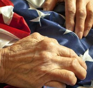 hands with USA Flag